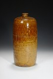 A CHINESE BROWN GLAZED VASE