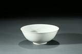A CHINESE MONOCHROME WHITE GLAZED BOWL
