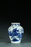A CHINESE BLUE AND WHITE PHOENIX JAR