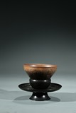 A CHINESE JIAN WARE BOWL WITH STAND