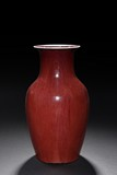 A CHINESE RED GLAZED VASE