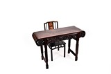 A CHINESE HARDWOOD ALTAR TABLE & SIDE CHAIR