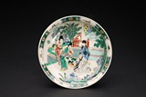 A CHINESE FAMILLE VERTE 'STORY SCENE' DISH