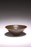 A CHINESE BROWN GLAZED CONIVAL BOWL