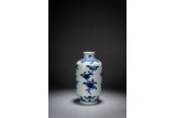A BLUE AND WHITE 'FLOWERS' LANTERN VASE