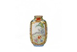A CHINESE FAMILLE ROSE 'BOYS' AND IMPERIAL POEM SNUFF BOTTLE